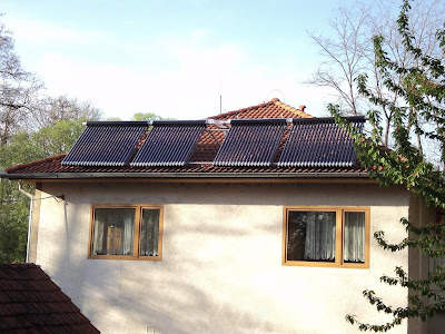 Vakuové trubicové solární kolektory s Hetat-pipe - instalace Moravský Krumlov