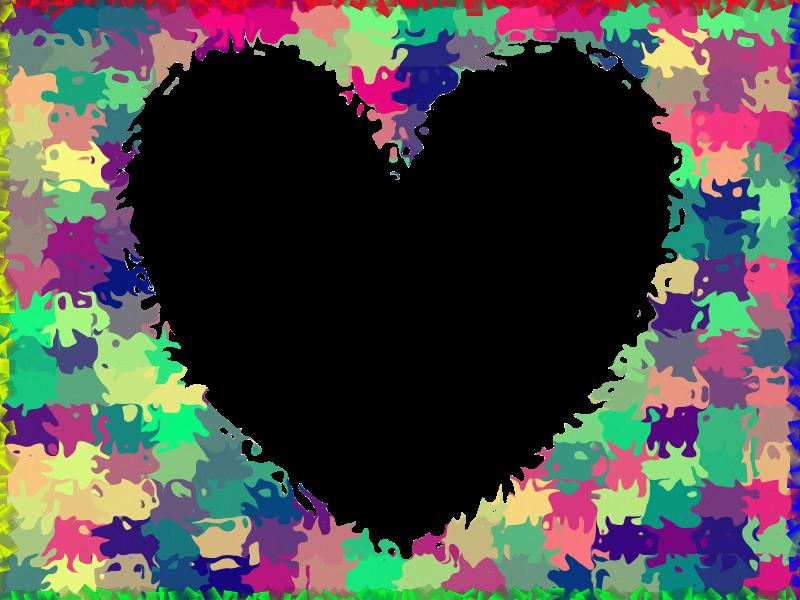 Marcos de corazones de colores imagui - Marcos de corazones para fotos ...