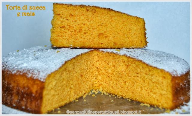 torta di zucca e mais senza glutine