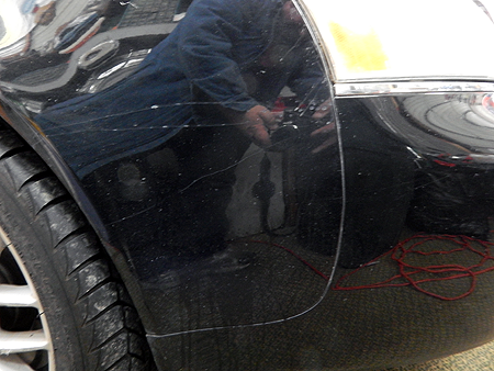 Before & After: we can removed unwanted paint damage on your vehicle