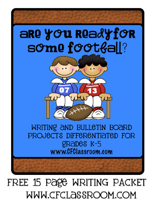 Writing Projects with Football theme