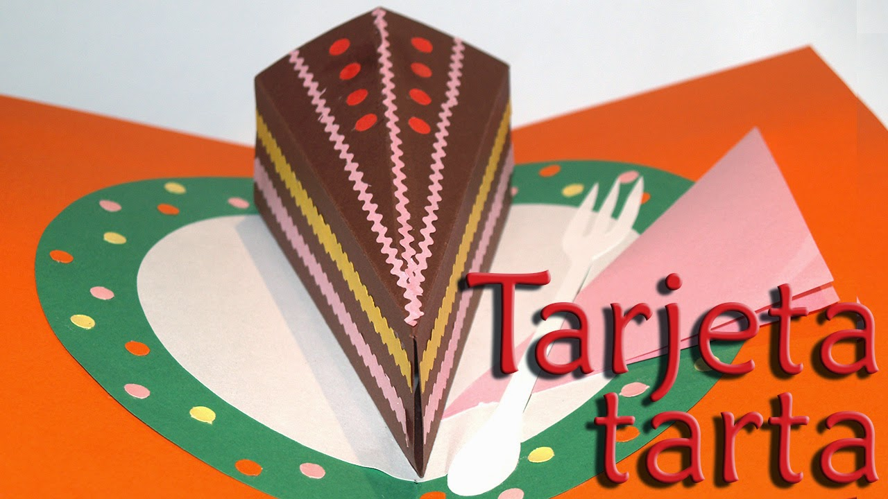 tarjta tarta pop up- pop up cake card