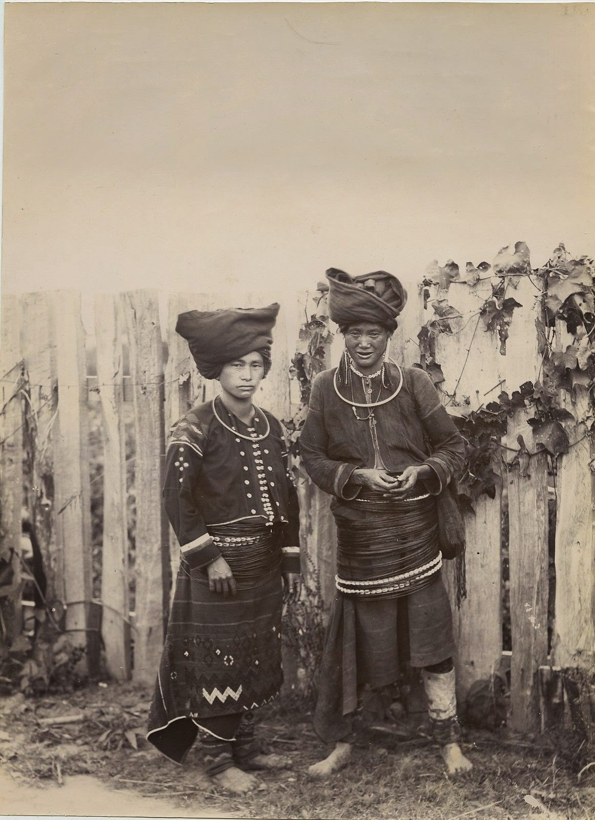 Two Kachin Women From Burma (Myanmar) - c1890's