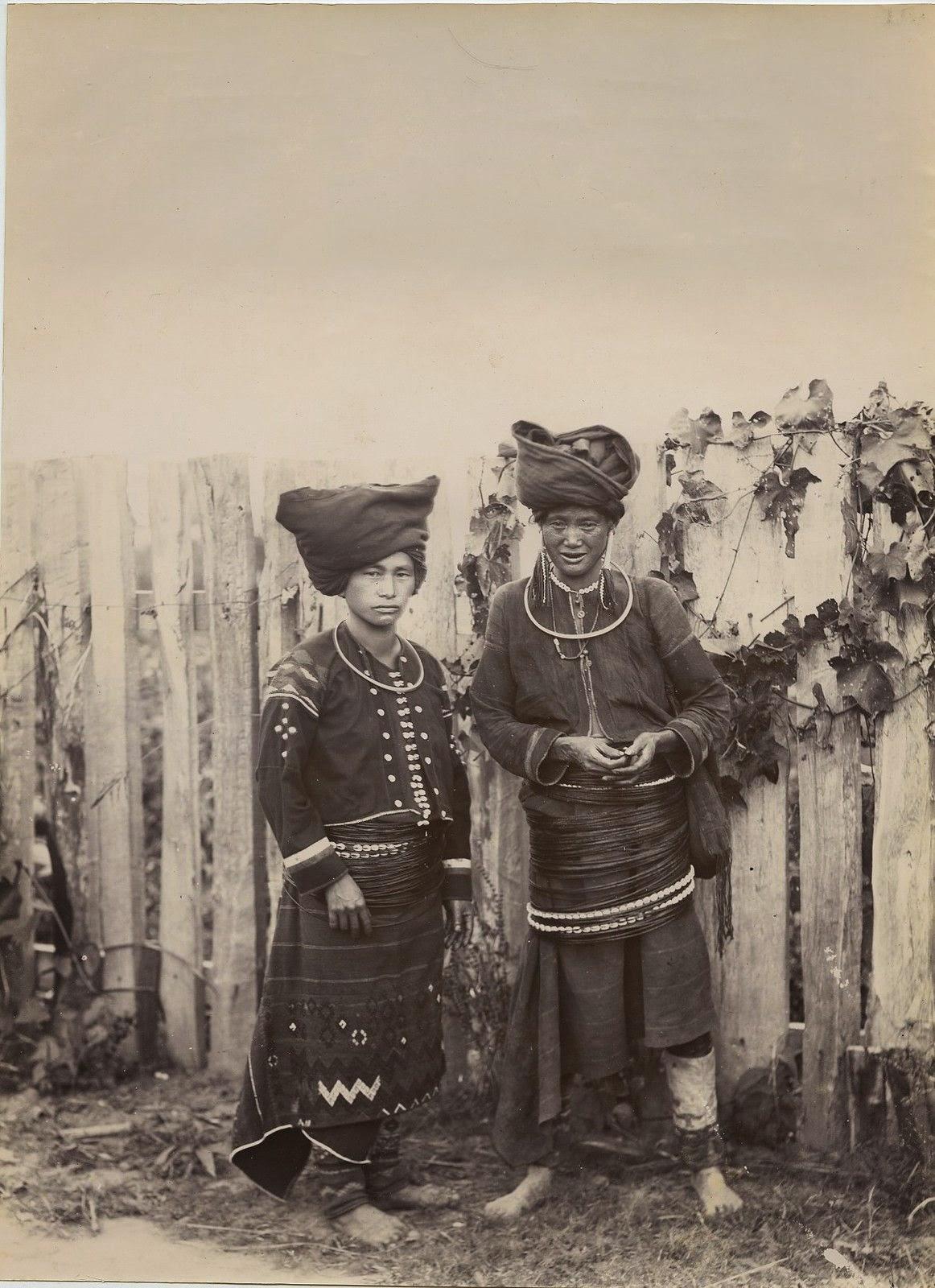 Two Kachin Women From Burma (Myanmar) - c1890's