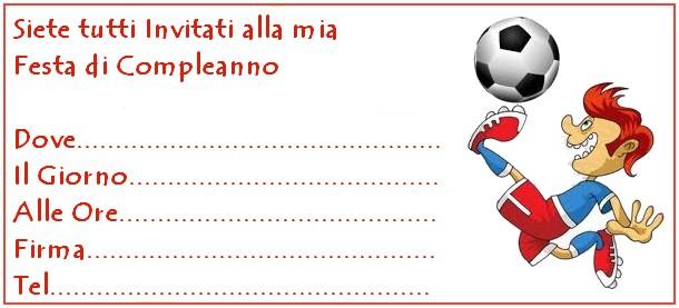 Poetizzando biglietti invito compleanno for Calciatori da colorare per bambini