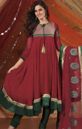 Red-Georgette-Anarkali-Suit