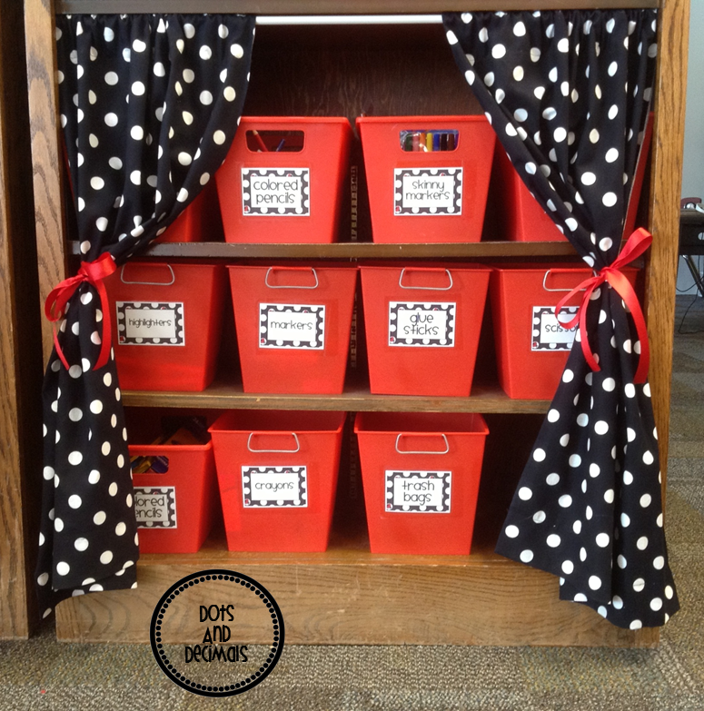 Black And White Classroom Decoration ~ Dots and decimals labels everywhere