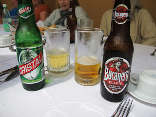 Cerveza Cristal (light) and Bucanero Fuerte (dark) Cuban beer