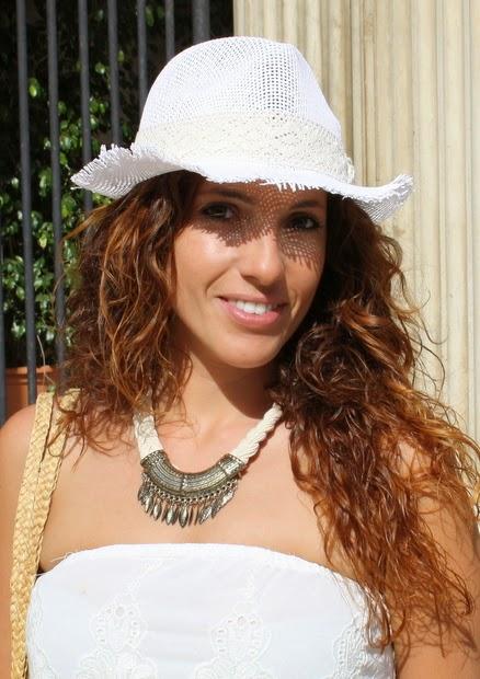 sombrero blanco paja
