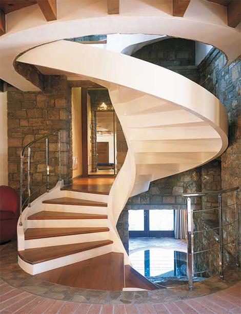 staircase with shape spiral design design modern home