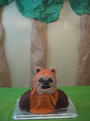 Star Wars 3D Wicket the Ewok Cake 3