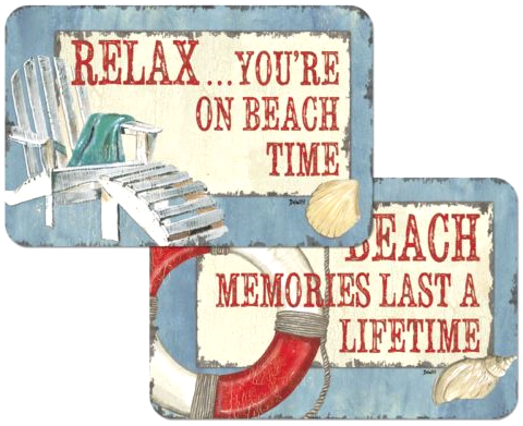 Beach Placemats with Quotes