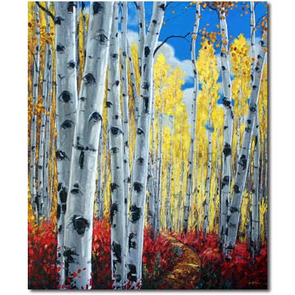 Birch Tree and Aspen Art by the Aspen Artist