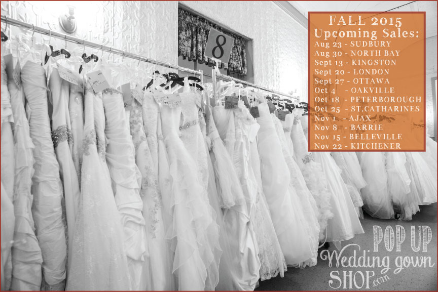 Pop Up Wedding Gown Shop