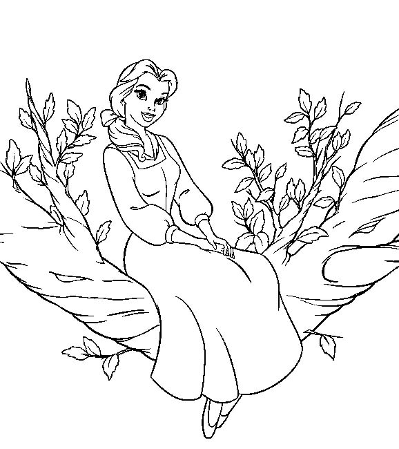 อสูร , Beauty and the Beast coloring pages title=