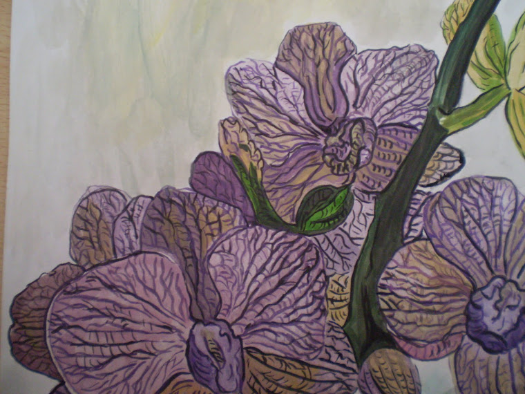 purple orchid, detail1