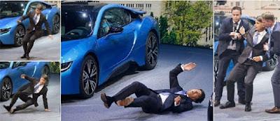 CEO BMW rebah ketika sidang media BMW i8 hibrid
