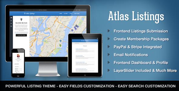 Atlas Directory & Listings v1.9.4 - Premium WordPress Theme