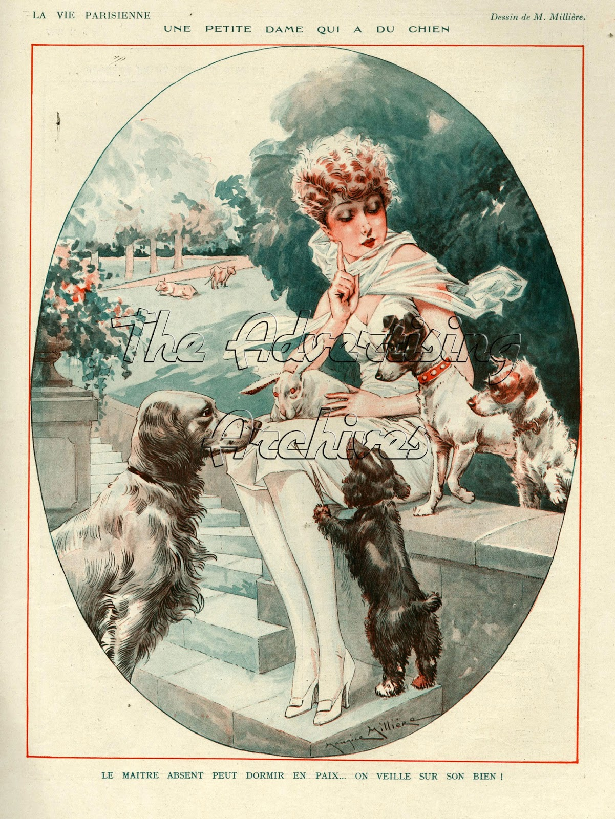 The advertising archives la vie parisienne goes dog crazy too - La parisienne journal ...