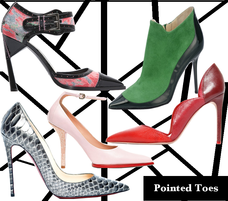 Fall 2013 Pointed Toe Heels Trend