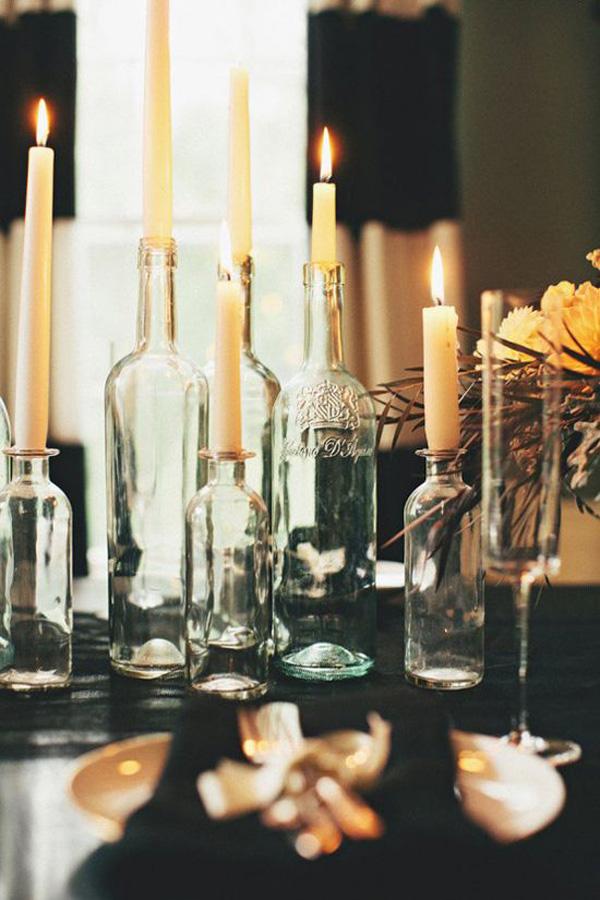 botellas portavelas decoracion nochevieja