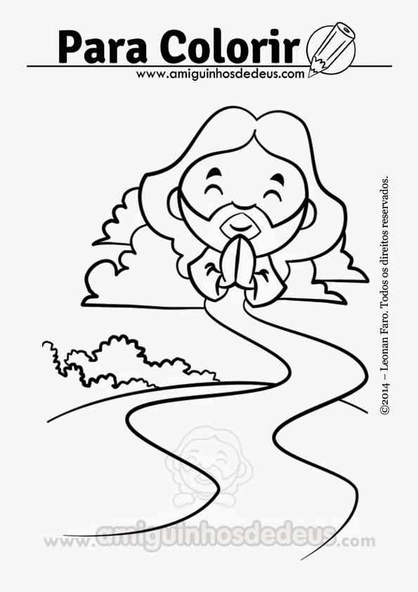 jesus caminho verdade e vida desenho para colorir