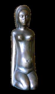 Statue jeune femme nue, enceinte