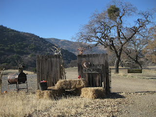 Holiday decorations at a ranch along Mines Road