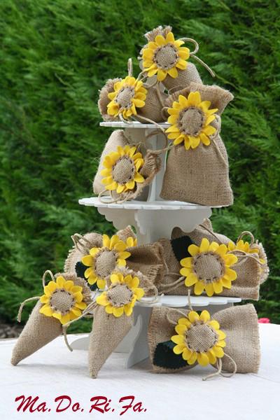 Segnaposto Matrimonio Girasoli : Ma do ri fa le nozze con i girasoli