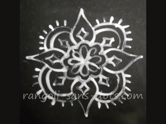Rangoli kolam designs with /sans dots: Rangoli - Alpona / Arisi