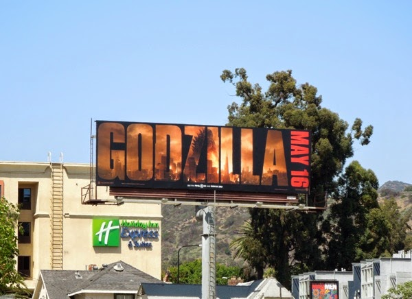 Godzilla movie billboard