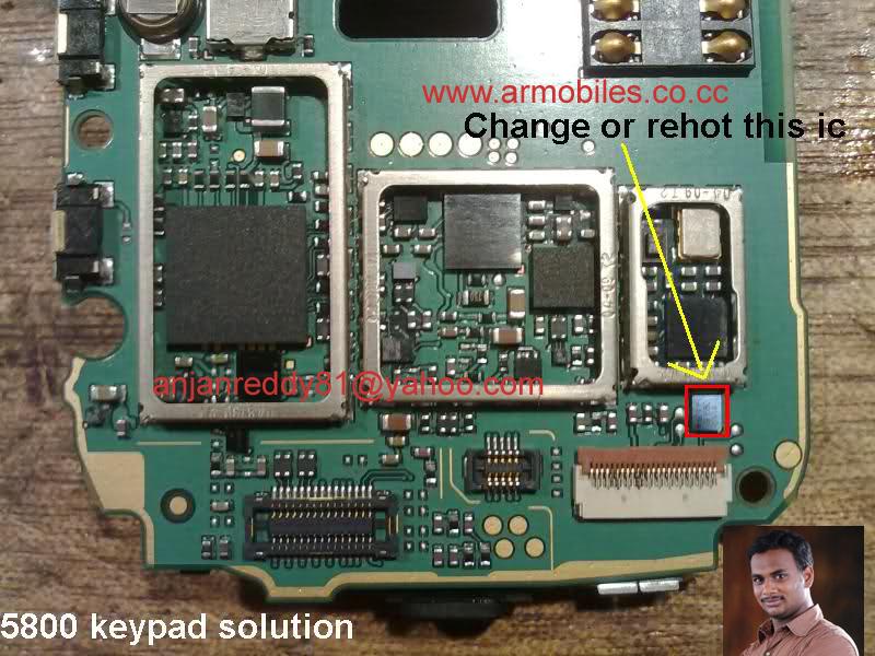 nokia 5800 green white red key solution