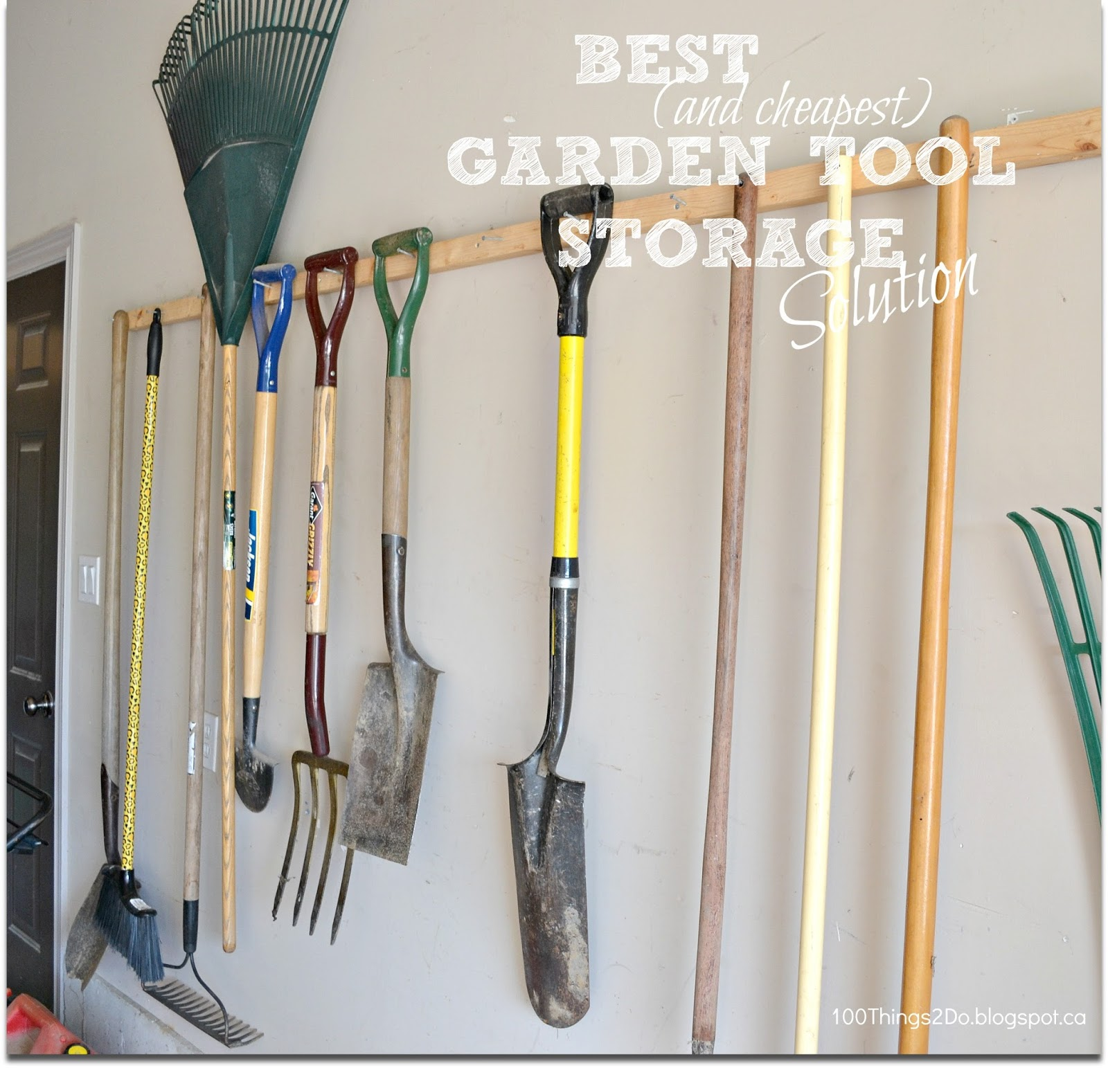 Storing garden tools without spending a fortune 100 for Garden tool storage ideas