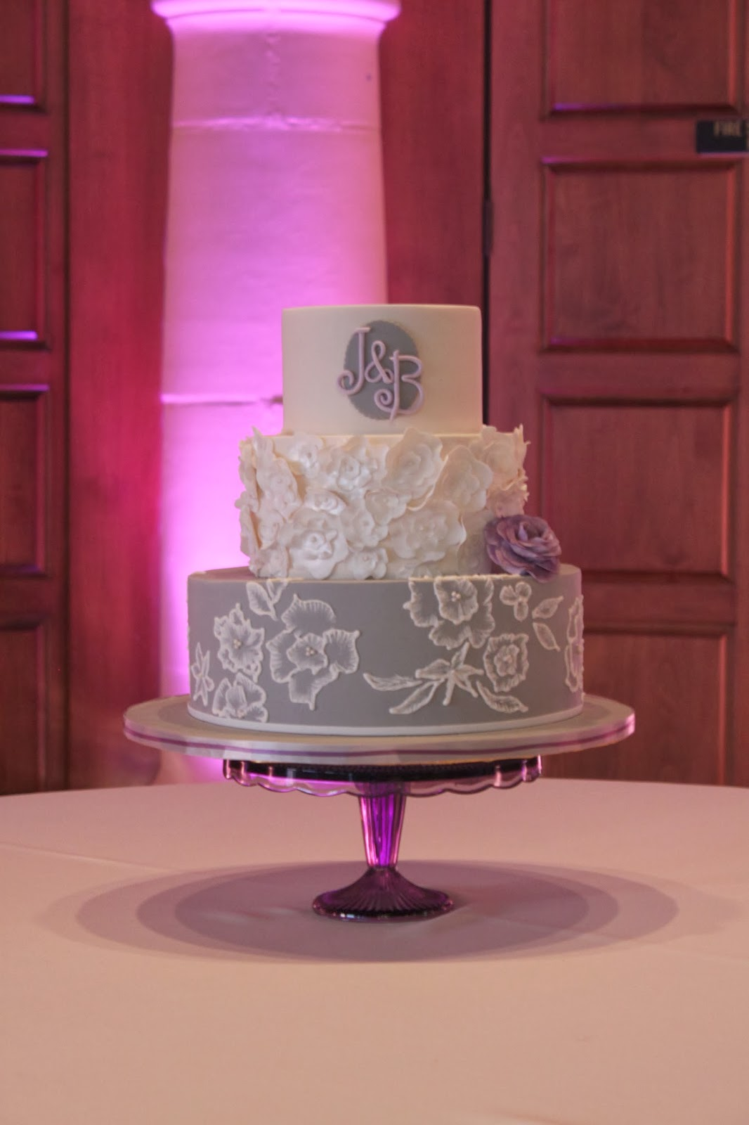 Lavender & Grey Wedding Cake | Just The Frosting