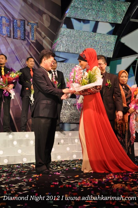 Diamond Night Dinner Award at MIECC for premium beautiful top agents on stage for ddm award