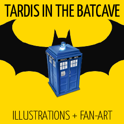 Tardis in the Batcave