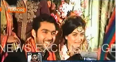 wedding pics of aisam ul haq.
