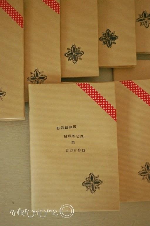 DIY papierowe okładki na książki.