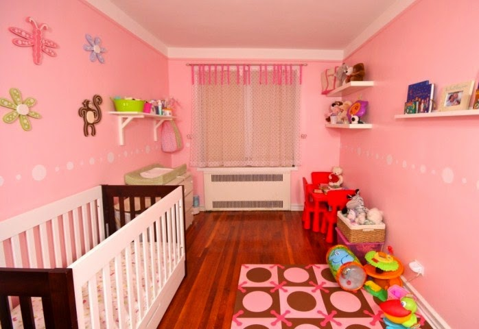 Top nursery wall paint color ideas for 2015 for Baby girls bedroom designs