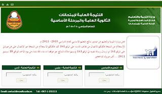 نتيجة الثانوية العامة اليمنية 2013 لجميع طلاب الشعبة الادبية و العلمية