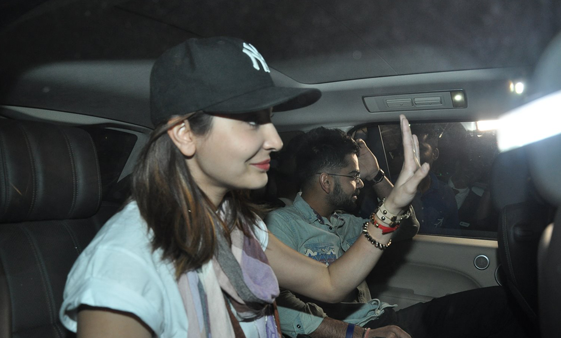 Anushka Sharma & Virat Kohli snapped at the domestic airport
