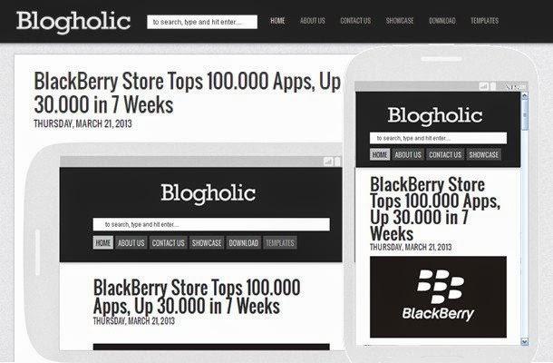 Blogholic Template - Mẫu Blogspot sang trọng