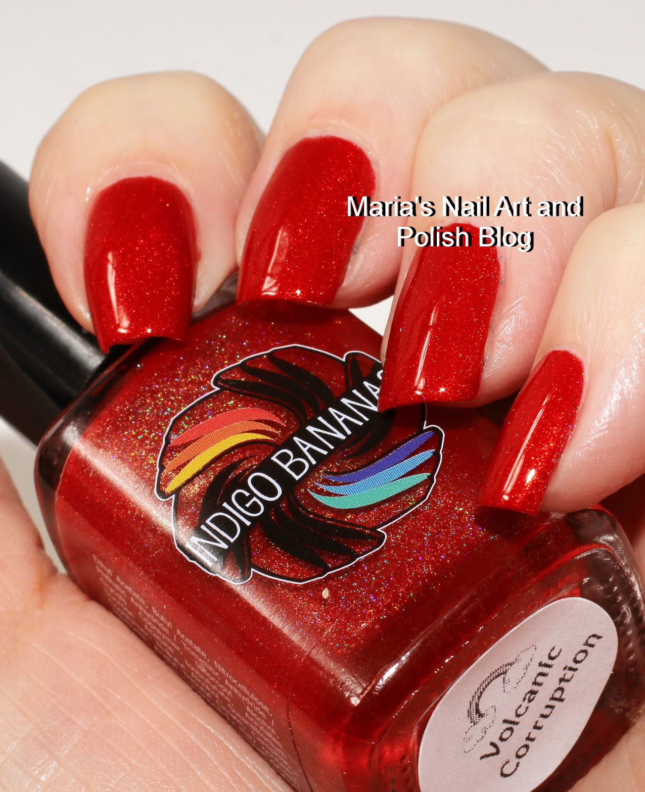 Marias Nail Art And Polish Blog Flushed With Stripes And: Marias Nail Art And Polish Blog: Indigo Bananas Volcanic