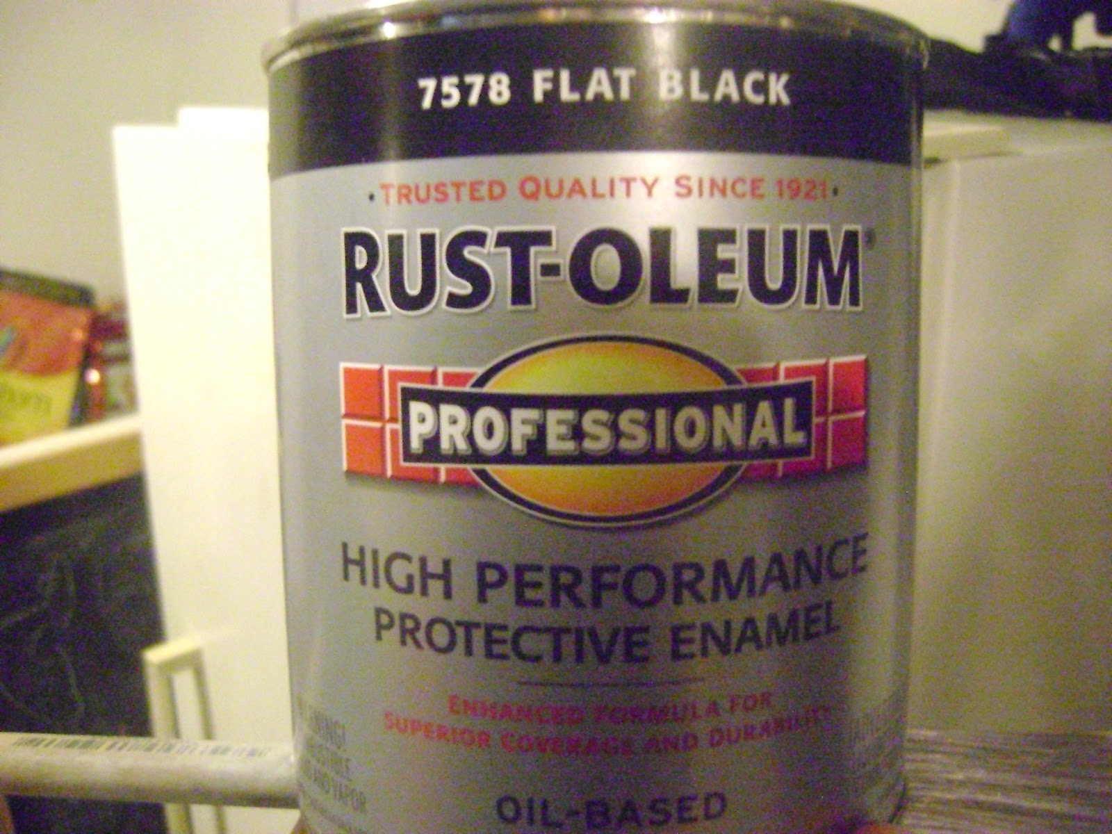 Rustoleum Countertop Paint With Flakes : ... main color on the counter tops I used the Flat BlackRust-Oleum paint
