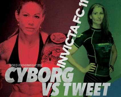 Cris Cyborg vs Charmaine Tweet