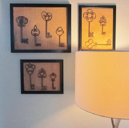 Como hacer un cuadro con llaves - Como decorar un cuadro ...