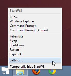 StartW8 klasik başlat menüsü