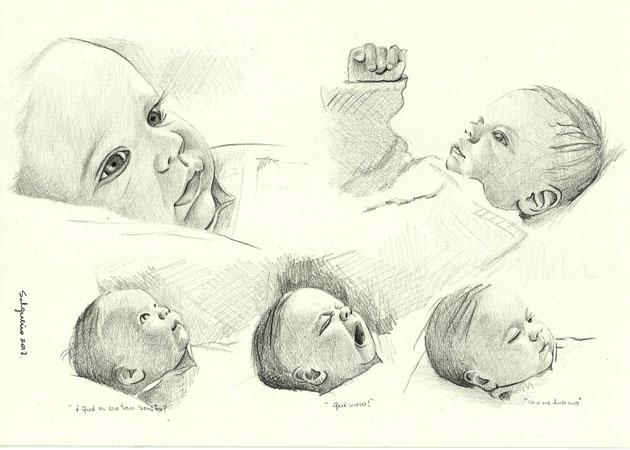 Ilustracin y Pintura Mara Jos Salgueiro 24 Retrato a lapiz