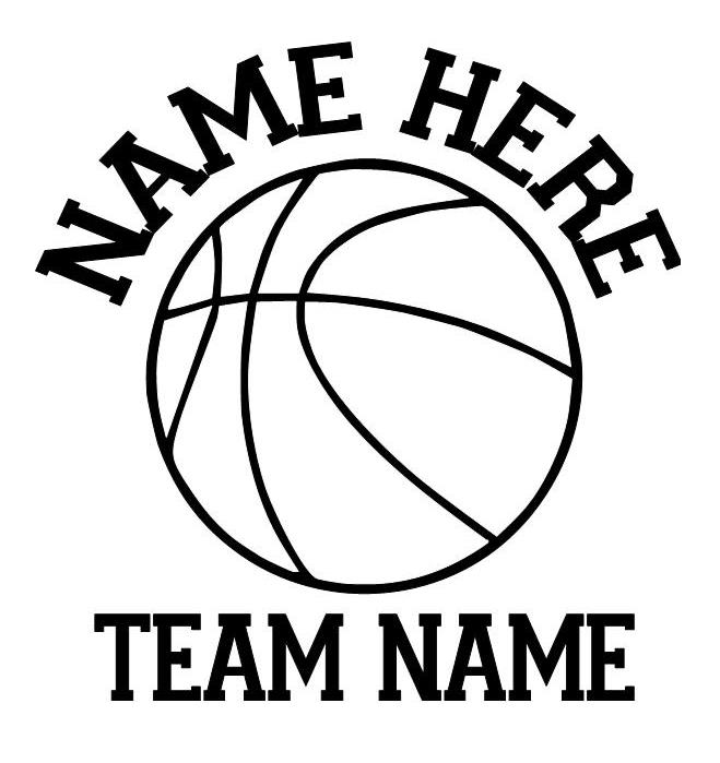 Basketball car decals personalized sport decals