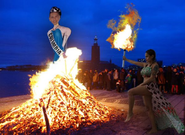 Ethel Booba bounces back, burns Colombian effigy